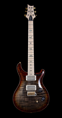 PRS Wood Library Custom 24 Flame 10 Top, Maple Neck, Maple FB - Burnt Maple Leaf