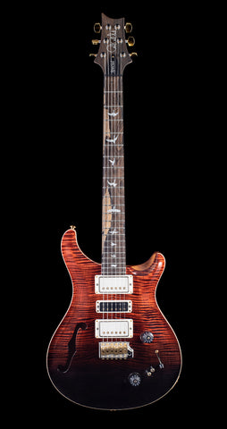 PRS Wood Library Special 22 Artist Package Flame, Maple Neck, Ziricote FB - Fire Red to Grey Black Fade (298)