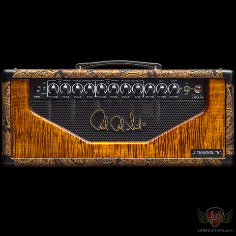 PRS 2-Channel H 50-watt Head - Paisley w/Black Gold Maple Fascia (262), PRS - Lark Guitars