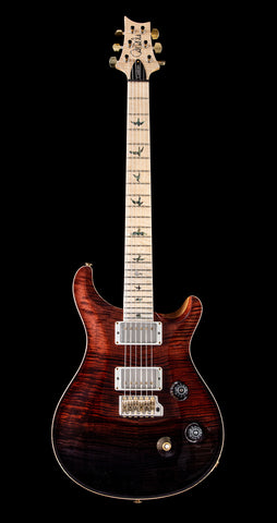 PRS Wood Library Custom 24 Flame 10 Top, Maple Neck, Maple FB - Fire Red to Gray Black Fade (050)