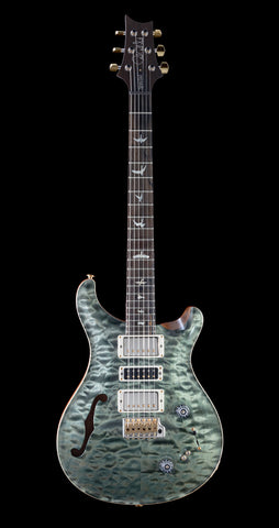 PRS Wood Library Special 22 Quilt 10 Top, Rosewood Neck, Ziricote FB - Trampas Green (305)