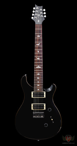 PRS SE Custom 24 7-String - Black (520) - Available at Lark Guitars