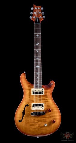 PRS SE Custom 24 Semi-Hollow - Vintage Sunburst (682) - Available at Lark Guitars