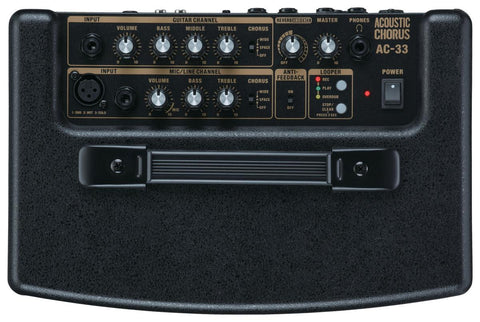 Roland AC-33RW 30-watt 2x5 Stereo Acoustic Amp - Rosewood - Available at Lark Guitars
