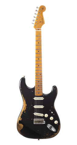 Fender Custom Shop 1957 Stratocaster Heavy Relic, Lark Guitars Custom Run -  Black (221)