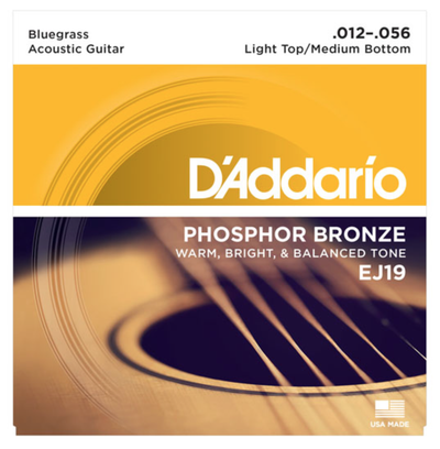 D'Addario EJ19 Phosphor Bronze Bluegrass Acoustic Strings 12-56 - Available at Lark Guitars