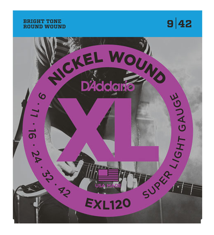 D'Addario EXL120 Nickel Wound Super Light Electric Strings 9-42 - Available at Lark Guitars