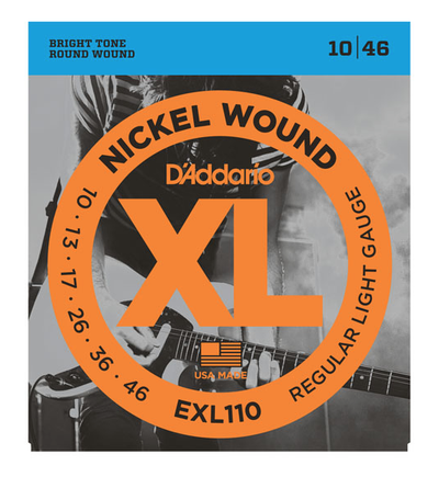 D'Addario EXL110 Nickel Wound Regular Light Electric Strings 10-46 - Available at Lark Guitars
