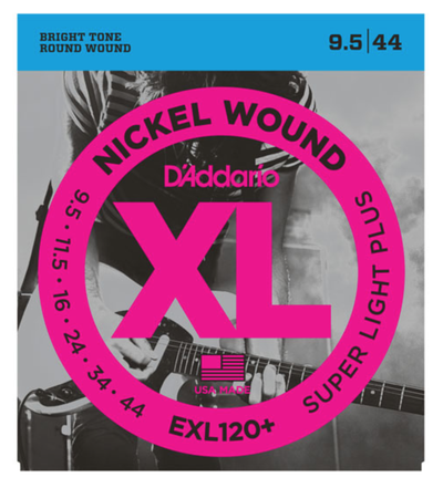 D'Addario EXL120+ Nickel Wound Super Light Plus Electric Strings 9.5-44 - Available at Lark Guitars