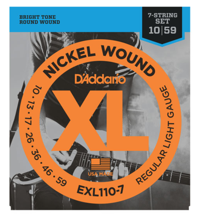 D'Addario EXL110-7 7-String Nickel Wound Regular Light Electric Strings 10-59 - Available at Lark Guitars