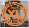 D'Addario EXL110-10P Nickel Wound Regular Light Electric Strings 10-46 - 10-Pack - Available at Lark Guitars