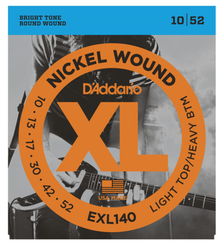 D'Addario EXL140 Nickel Wound Light Top/Heavy Bottom Electric Strings 10-52 - Available at Lark Guitars