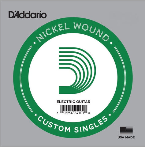 D'Addario NW026 Single XL Nickel Wound 026 - Available at Lark Guitars