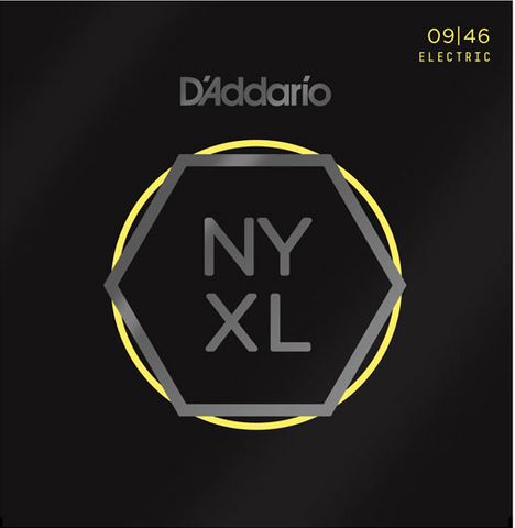 D'Addario NYXL0946 Nickel Wound Super Light Top/Regular Bottom Electric Strings 9-46 - Available at Lark Guitars