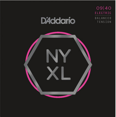 D'Addario NYXL0940BT Nickel Wound Balanced Tension Super Light Electric Strings 09-40 - Available at Lark Guitars
