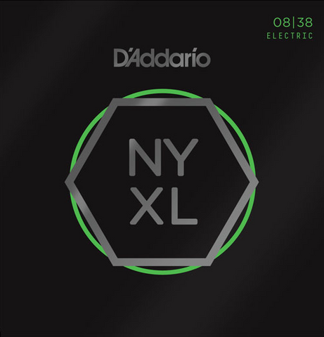D'Addario NYXL0838 Nickel Wound Extra Super Light Electric Strings 8-38, D'Addario - Lark Guitars