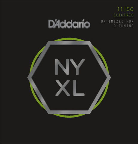 D'Addario NYXL1156 Nickel Wound Medium Top / Extra-Heavy Bottom Electric Strings 11-56 - Available at Lark Guitars