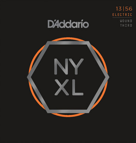 D'Addario NYXL1356W Nickel Wound Medium Wound 3rd Electric Strings 13-56 - Available at Lark Guitars