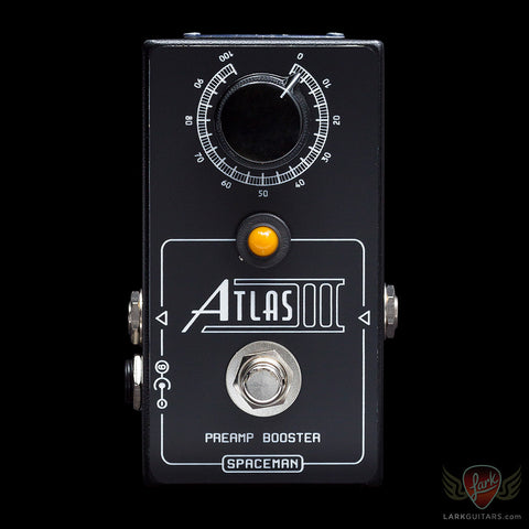 Spaceman Effects Atlas III Discrete Preamp Booster - Black Edition LTD #54 of 177 (054) - Available at Lark Guitars