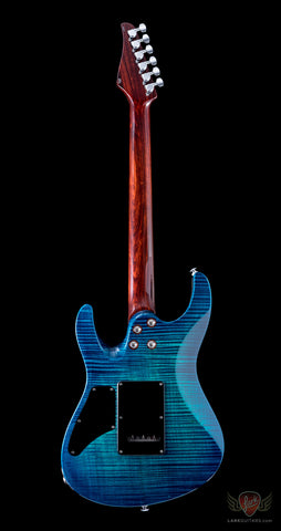 Suhr 2014 Collection Reloaded Modern Carve Top Flame Maple - Aqua Blue Burst (837)