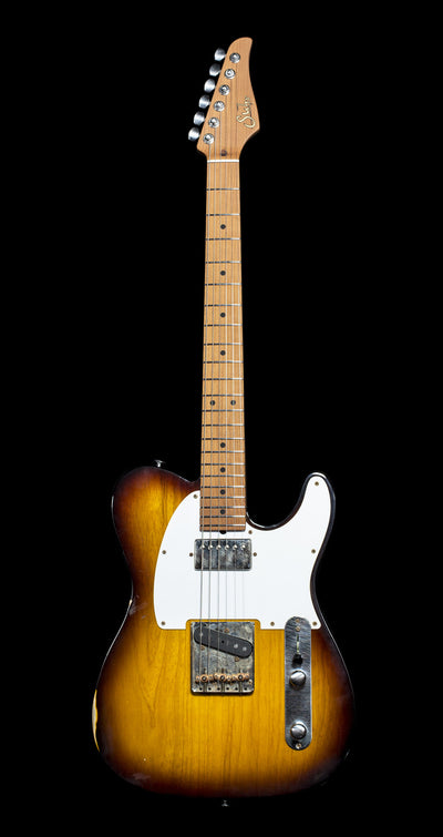 zSOLD* - Suhr Pro Series Classic T Antique SH Roasted MN - 2 Tone Tobacco Burst (925) - Available at Lark Guitars