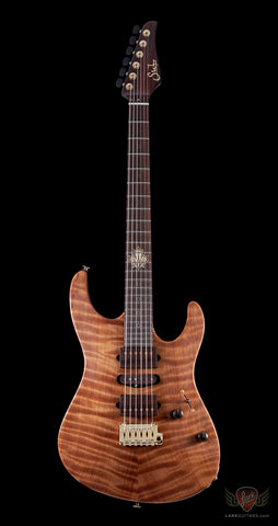 Suhr 2015 Collection Modern Carve Top Figured Redwood - Natural (207)