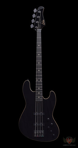 Suhr Custom Blackout Classic J Roasted MN Ebony FB - Black (746) - Available at Lark Guitars