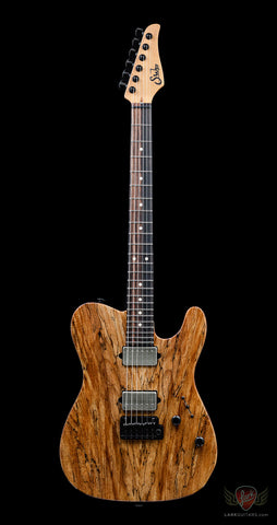 Suhr Custom Classic T 24 HH Reverse Chevron Spalted Maple - Natural (236)