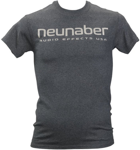 Neunaber Logo T-Shirt Heather Grey - Medium - Available at Lark Guitars
