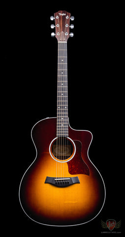zSOLD - Pre-Owned Taylor 214CE-SB DLX Grand Auditorium Acoustic Electric - Sunburst (371)