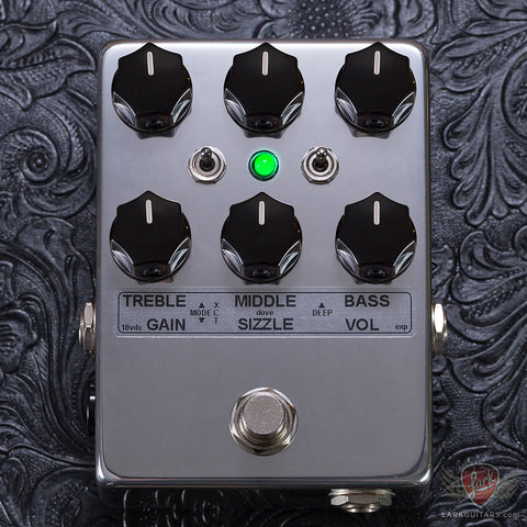 Toneczar Dove Overdrive/Distortion Pedal - Polished (102)