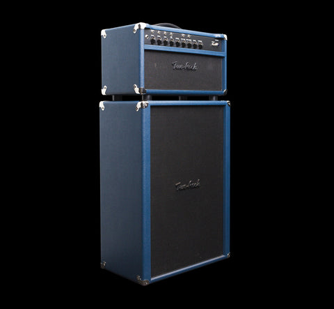 Two-Rock Prototype Custom Reverb Signature V3 50-watt Tube Rectified Head & 2x12 Cabinet w/G12H75 Creambacks - Blue Dragon (038)