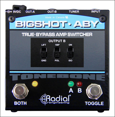 Radial BigShot ABY True-Bypass Switcher - Available at Lark Guitars