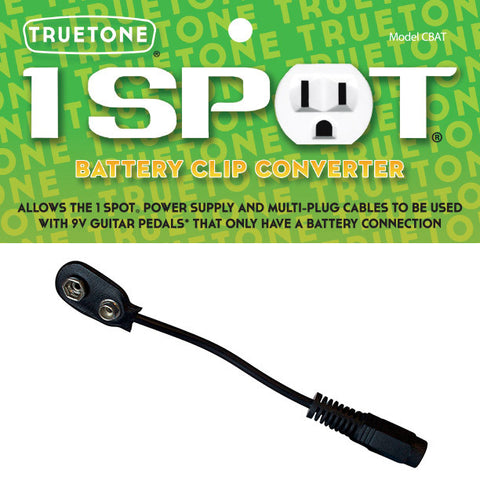 Truetone 1 SPOT CBAT Battery Clip Convertor - Available at Lark Guitars