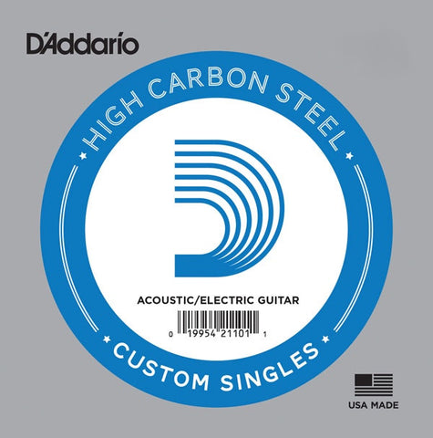 D'Addario PL016 Single Plain Steel 016 - Available at Lark Guitars