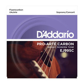 D'Addario EJ99SC Pro-Arte Carbon Soprano/Concert Ukulele Strings - Available at Lark Guitars
