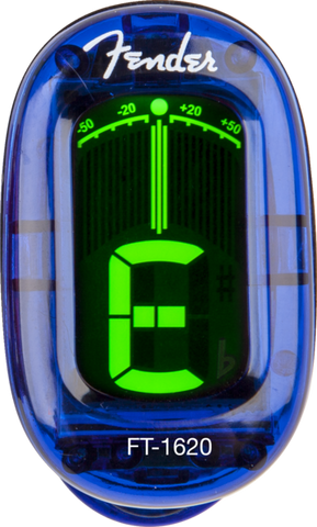 Fender FT-1620 California Series Clip-On Chromatic Tuner - Lake Placid Blue - Available at Lark Guitars