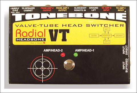 Radial Headbone VT Valve-Tube Head Switcher - Available at Lark Guitars