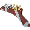 EVH Striped Series Shark, Burgundy w/ Silver Stripes