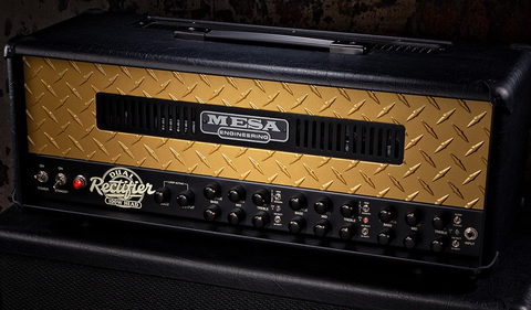 Mesa Boogie 50th Anniversary Limited Edition Dual Rectifier - Black with Gold Diamond Plate