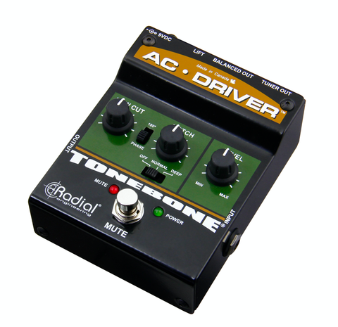 Radial AC Driver - Acoustic Instrument Preamp w/low Cut and Notch Filter