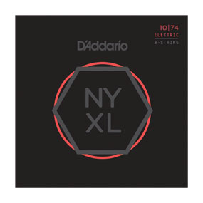 D'Addario NYXL1074 Nickel Wound 8-String Electric Set