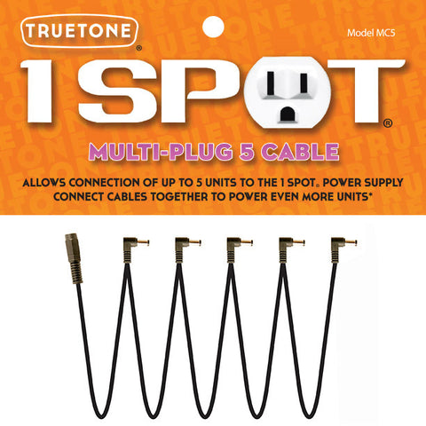 Truetone 1 SPOT MC5 Multi-Plug 5 Cable - Available at Lark Guitars