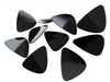 Coarse Picks 10-Pack w/Metal Tin - Brushed Steel - Available at Lark Guitars