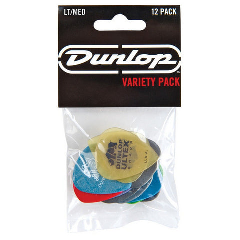 Dunlop PVP101 Pick Variety Pack Light/Medium Picks - 12-Pack, Dunlop - Lark Guitars