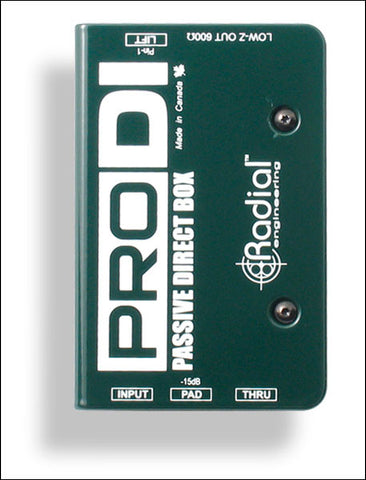 Radial ProDI Passive Direct Box - Available at Lark Guitars
