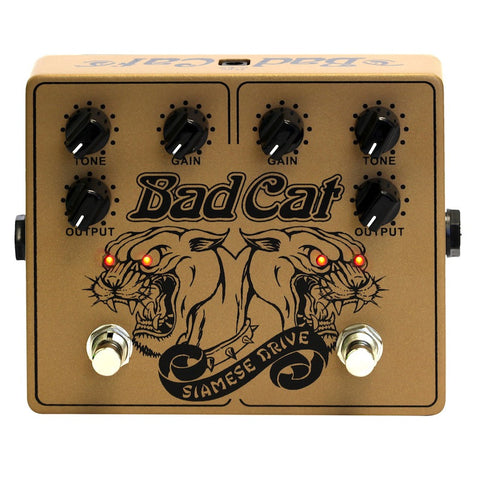 Bad Cat Siamese Drive Pedal - Gold