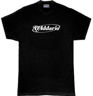 D'Addario Logo T-Shirt - Black - Medium - Available at Lark Guitars
