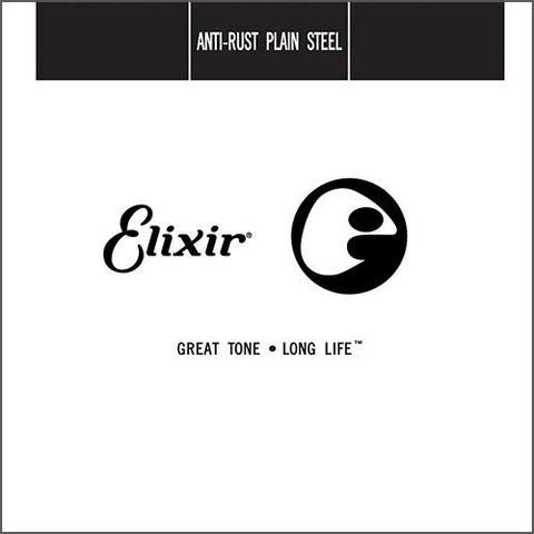 Elixir 13012 Anti-Rust Plain Steel Single String 4-Pack - .012