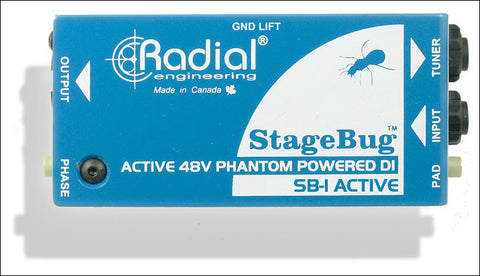 Radial Stagebug SB-1 Active Direct Box - Available at Lark Guitars